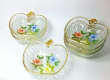 Gorgeous 1970's Glass Fruit Dishes x 6